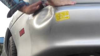 Amateur video of repairing dent from car accident of my 1998 Camaro Z28 SS