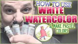 How to Use White Watercolor Paint & Make Pastel Colors