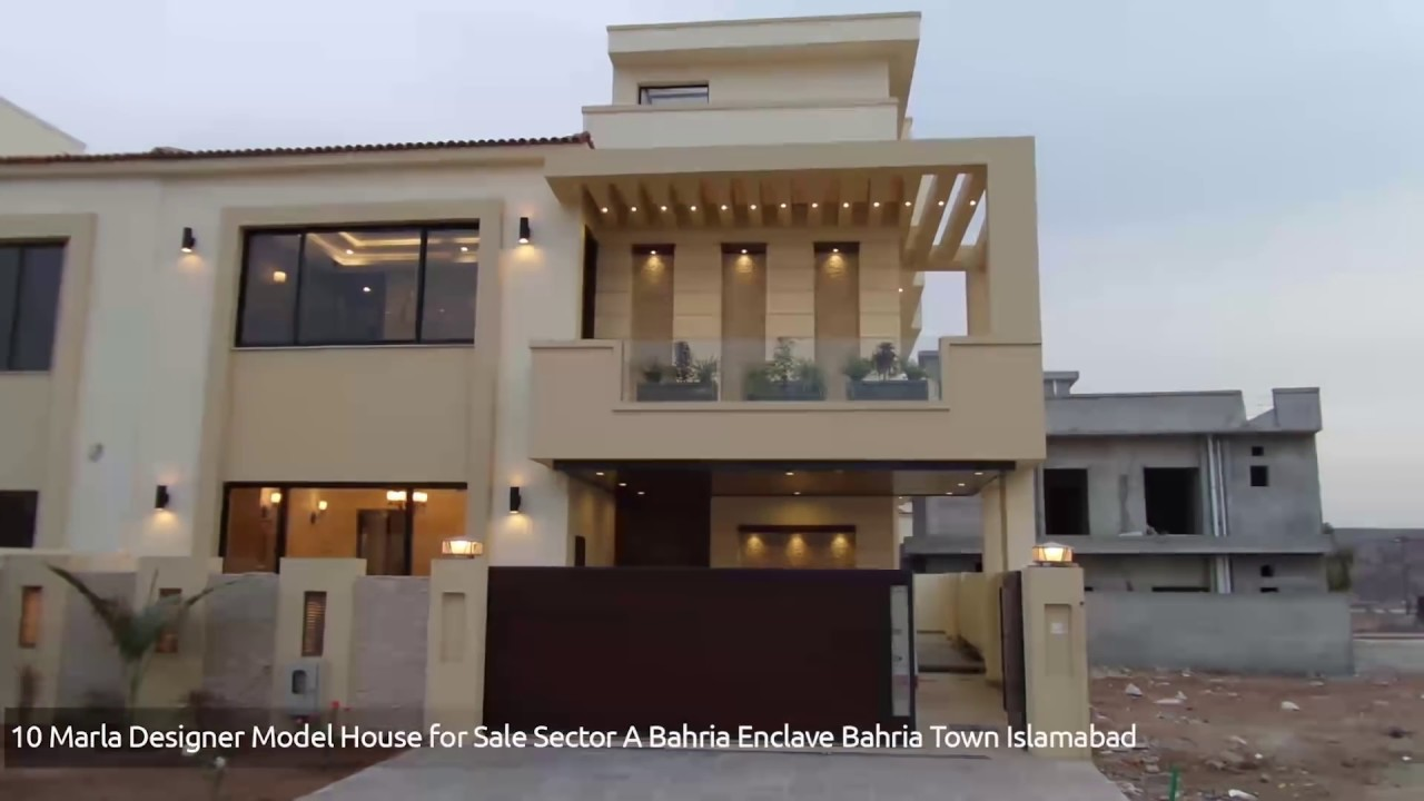 10 marla designer model house for sale sector a bahria enclave