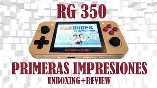 👉🏼CONSOLA RG350 UNBOXING REVIEW-ESPAÑOL-📢 PRIMERAS SENSACIONES*¤PARTE 1 #RETROVIDEOJUEGOSTV