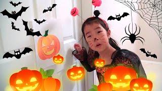 할로윈 파티 사탕을 많이먹었어요 Ella and Jenny Halloween videos for Kids Trick or Treat