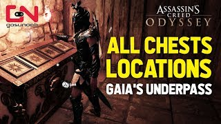 AC Odyssey - Fate of Atlantis - Gaia's Underpass Puzzle Solution - All Chests Locations