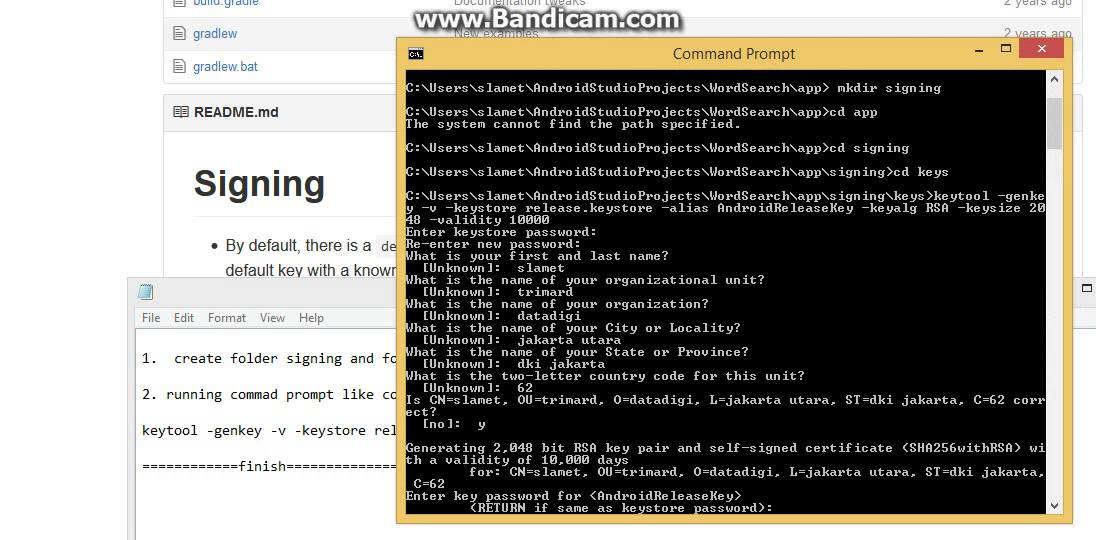 Bug Fixing keystore on Android Studio Java JDK 8 part 2