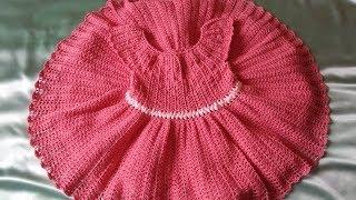 Платье крючком с атласной лентой / How crochet a dress