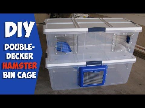 D i y bin cage funnycat tv for Hamster bin cage tutorial
