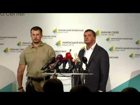 (English) Pavlo Petrenko, Arsen Avakov. Ukraine Crisis Media Center, 11th of August 2014