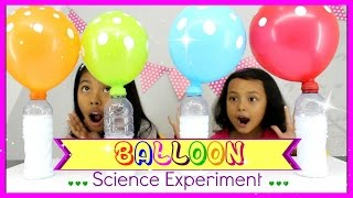 BALLOON SCIENCE EXPERIMENTS FOR KIDS ♥ VINEGAR AND BAKING SODA,FIRE PROOF ANTI POPPING
