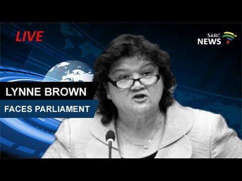 Public Enterprises Minister Lynne Brown faces Parliament over Molefe