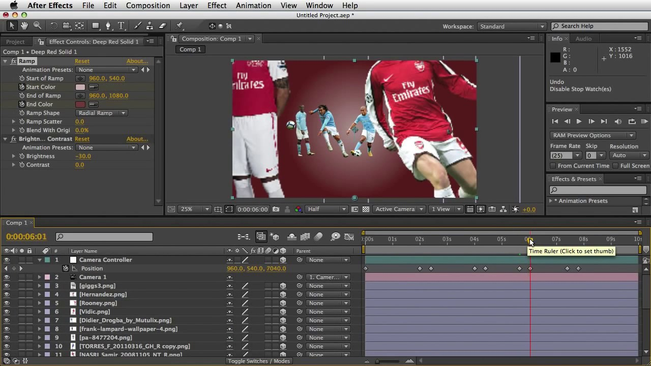 after effects tutorial bumper sepak bola simple