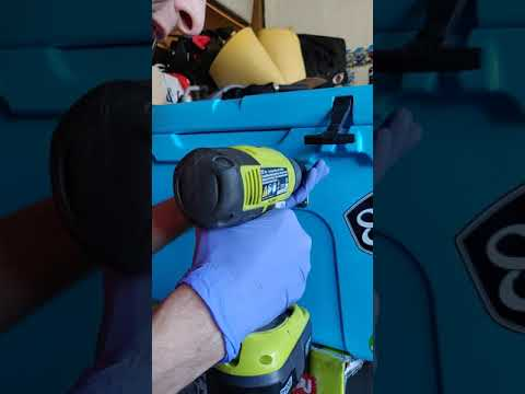 Diy Yeti cooler bottle opener install diy drilling into my yeti 45