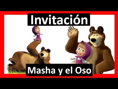 Video Invitación Masha Y El Oso Whatsapp Digital