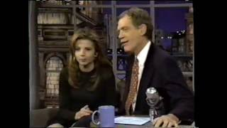 Victoria Abril on the Late Show (1996)