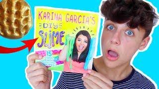 TESTING KARINA GARCIA&#39S SLIME BOOK RECIPES!! HOW TO MAKE SLIME WITHOUT BORAX!
