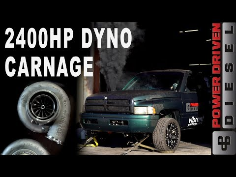 2400HP DYNO CARNAGE | Power Driven Diesel