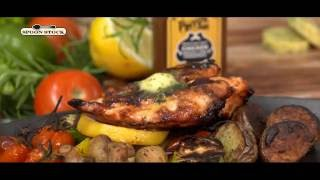 Grilled Chicken Breast with Pintos Pride Herbal Chicken Butter