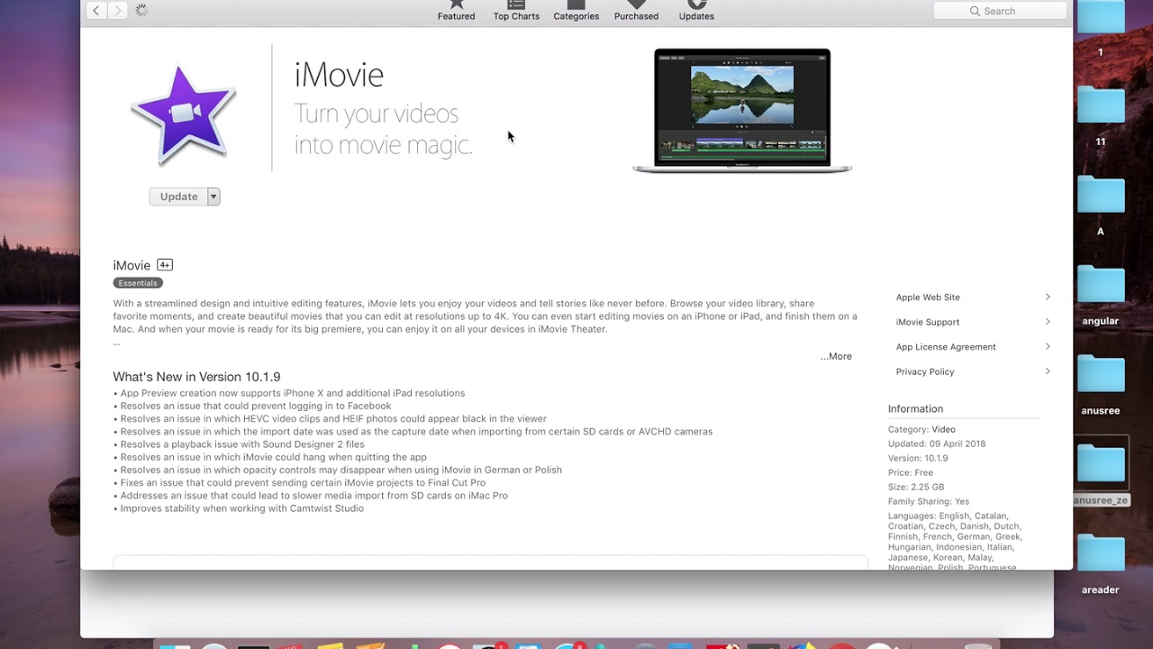 How to Update iMovie macOS OS X - 2019