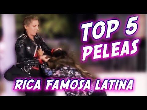 TOP 5 DE PELEAS DE RICAS FAMOSAS LATINAS-Fenomeno Studios thumbnail