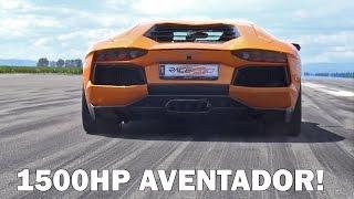 1500HP TWIN TURBO GAD MOTORS Lamborghini Aventador 1/2 Mile @ 324km/h