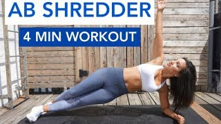 4 MIN AB SHREDDER | QUICK CORE HIIT TRAINING
