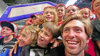 9 YEAR OLD FANS BIRTHDAY WISH COMES TRUE! (Trampoline party)