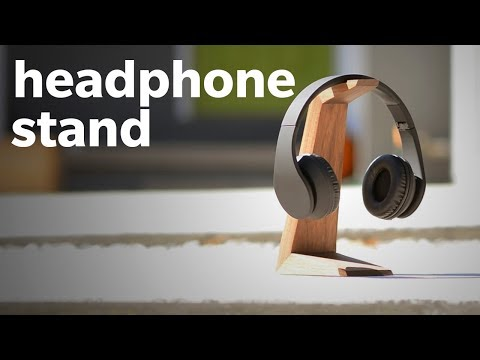 How To Make A DIY Headphone Stand - Woodworking