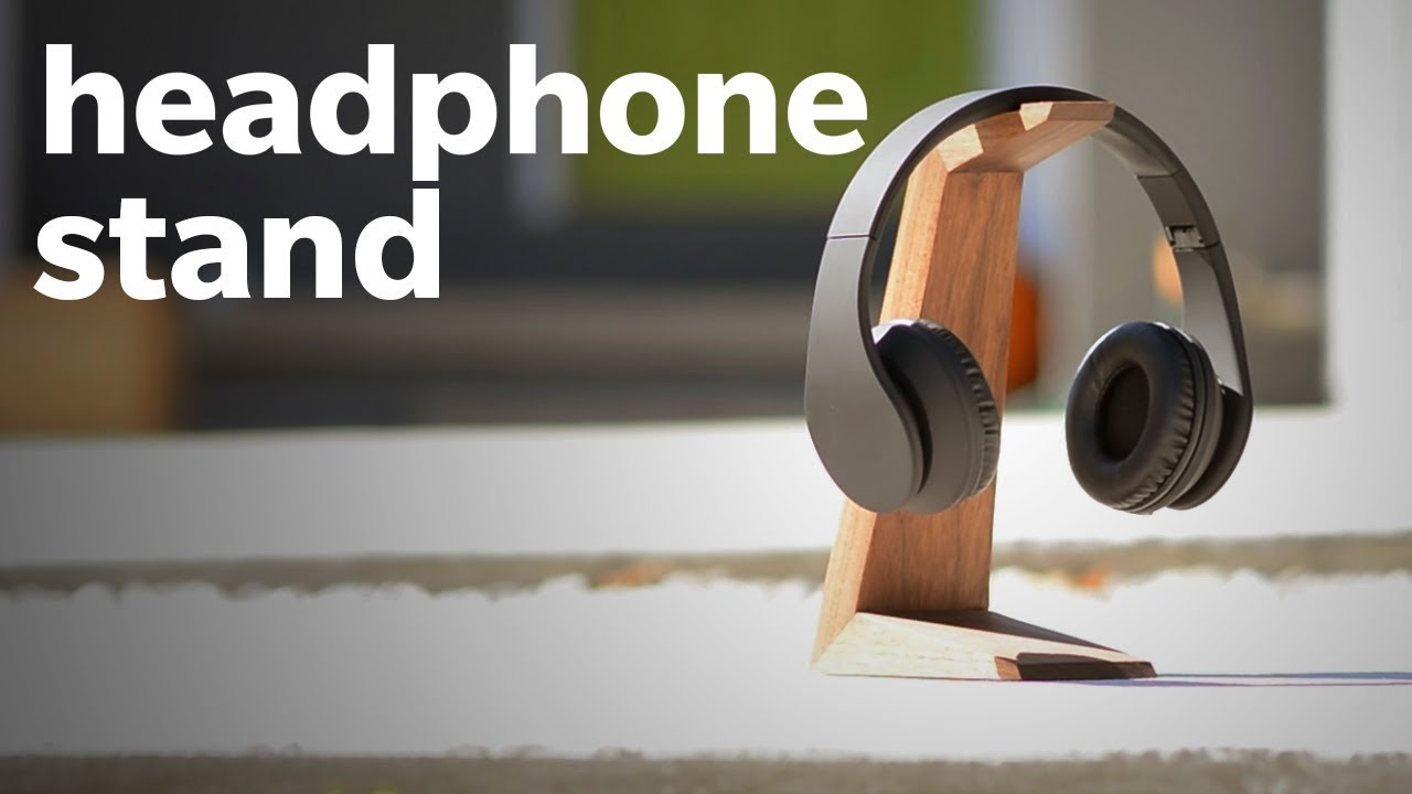 How to make a diy headphone stand woodworking
