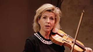 Violinist anne-sophie mutter took time out of her tour schedule to perform a strings session with concert pianist lambert orkis. the duo performed tchaikovsk...