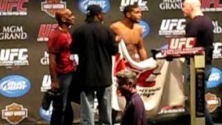 UFC - 108  Dustin Hazelett vs Paul Daley weigh in