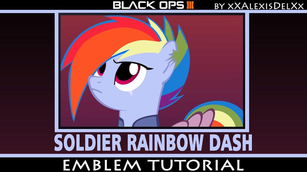 black ops 3 emblem tutorial my little pony soldier rainbow