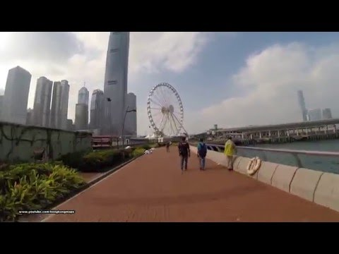 26 minutes timelapse harbour-front walk from Siu Sai Wan to Kennedy Town