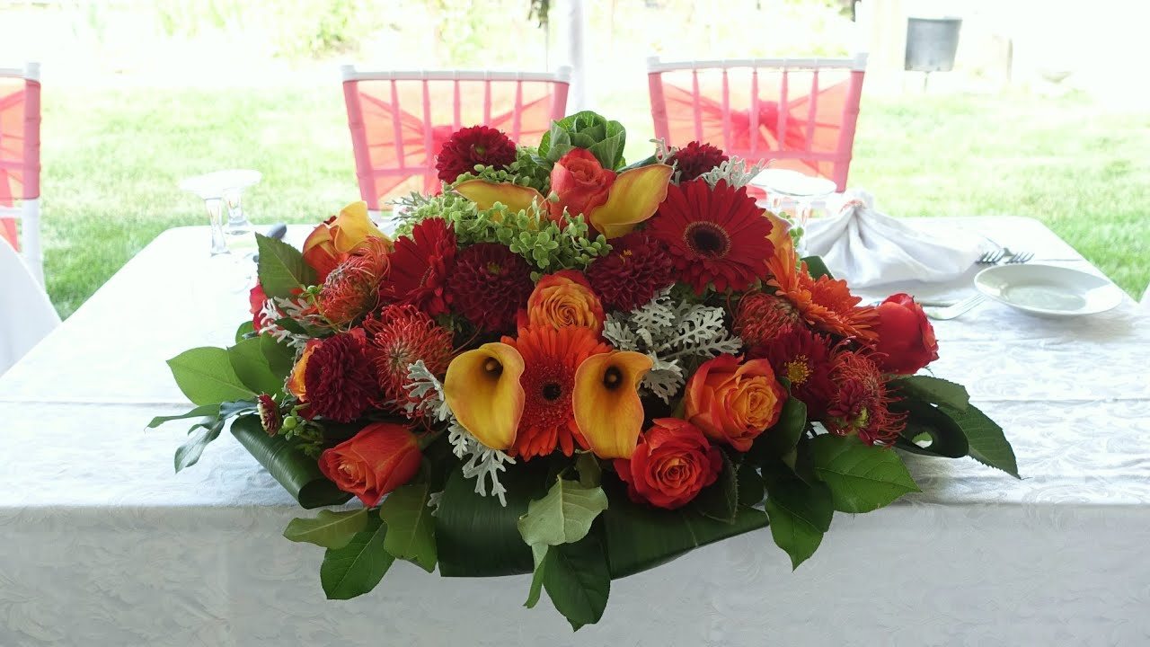 Flowers Arrangement Pictures how to make a head table wedding flower arrangement - youtube