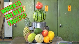 Which is The Strongest Fruit? Hydraulic Press Test!