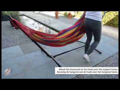 Hangmat Met Stevig Frame.Stevige En Grote Hangmat Instructie Youtube