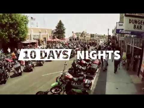 Sturgis Motorcycle Rally - August 3-12, 2018 - Video