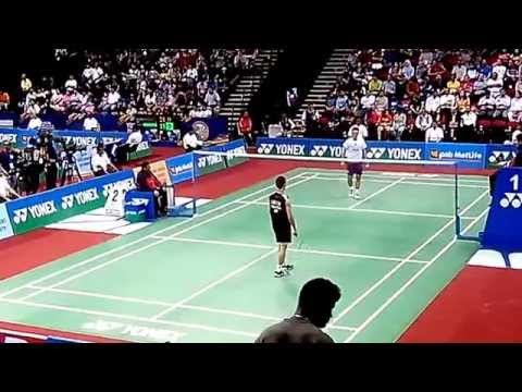 Lee Chong Wei vs Du Pengyu | BWF India Open 2014 MS,SF-1/3 | Perfect Angle Badminton