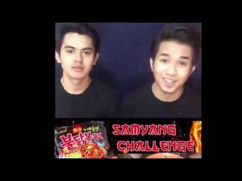 Samyang spicy noodle challenge - Zaroll Zariff with Amri Aziz