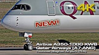 New Airbus A350-1000 XWB [4K] Qatar Airways (A7-ANG)!