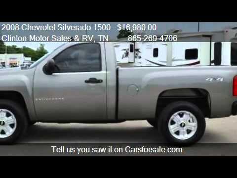 2008 Chevrolet Silverado 1500 Work Truck 4wd 2dr Regular Cab