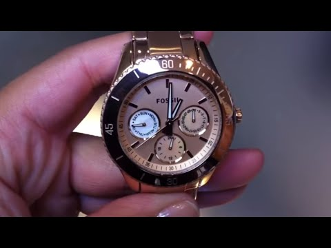 Amazoncom womens gold fossil watches