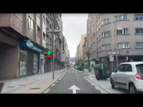 Un paseo en coche por la Pontevedra desierta