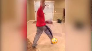 Dad shows off HILARIOUS dunk contest dunks! Video