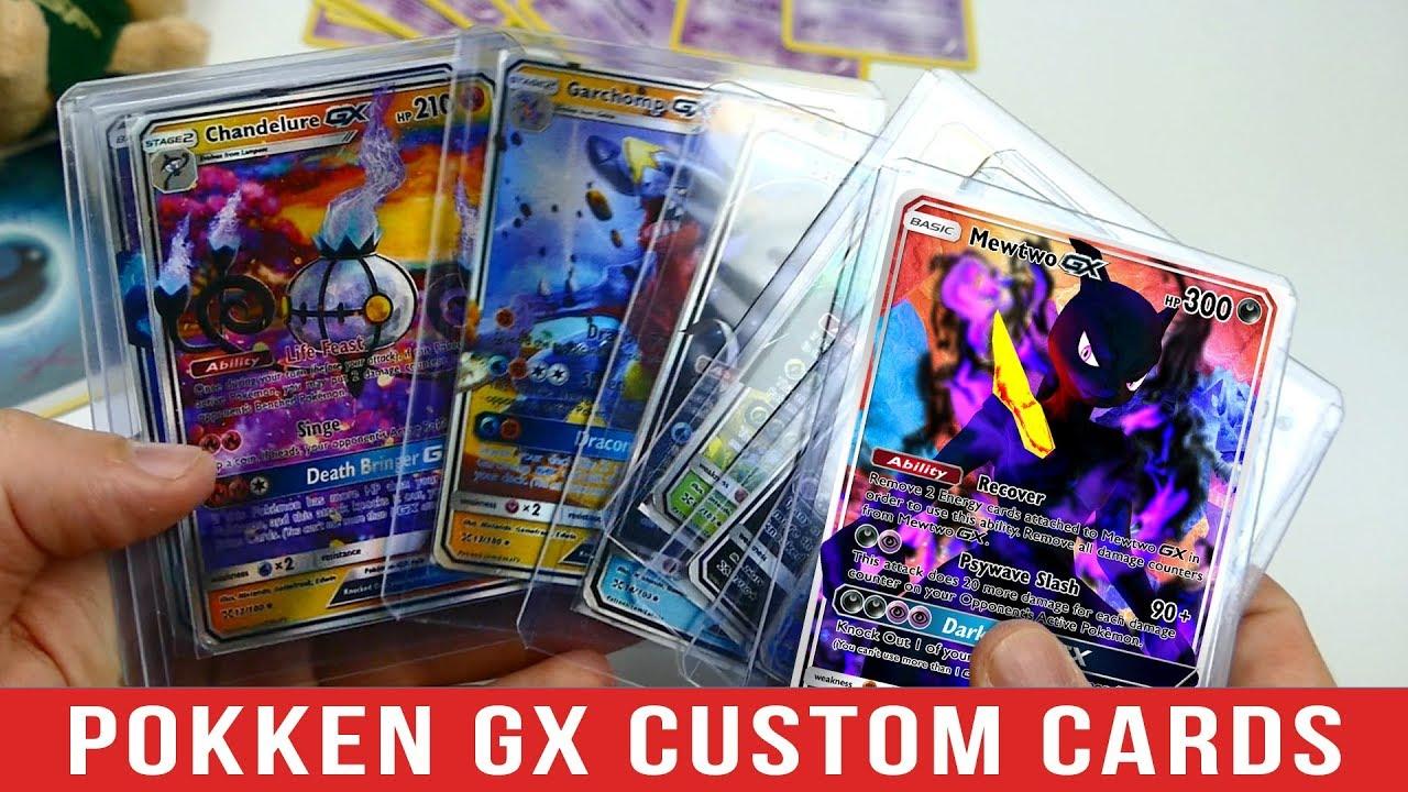Shadow Mewtwo GX-Custom Pokemon Card