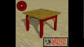 Chief's Shop Sketch Of The Day: Deck Side Table