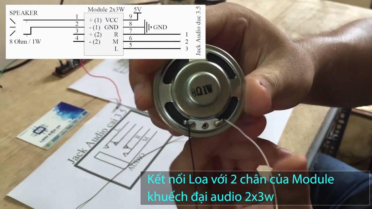 Loa không dây điều khiển qua bluetooth bằng module tai nghe bluetooth OVC3860
