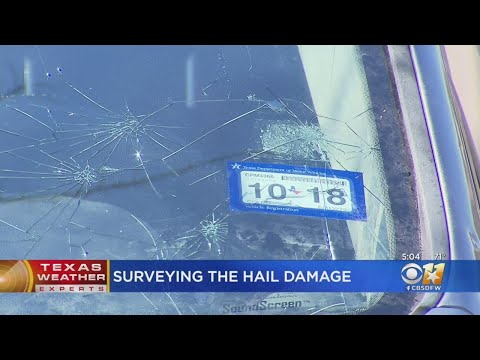 Surveying The Hail Damage In North Texas