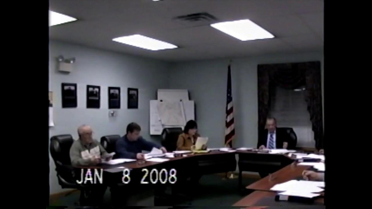 Champlain Town Board Meeting   1-8-08