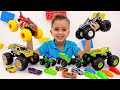 Vlad and Niki play and have fun with New Toy Cars and Playsets