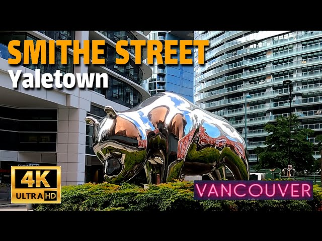 🇨🇦[4K] WALK - SMITHE STREET, YALETOWN, DOWNTOWN, VANCOUVER BC.  CANADA. May 2021