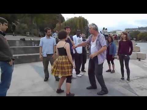 Pas de Base de la Bourrée Deux temps - ( French dance ) Paris Août  2014