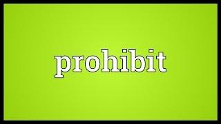Prohibit Meaning thumbnail